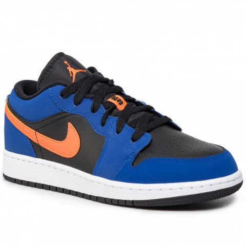 Nike Schuhe Air Jordan 1 Low (Gs) 553560 480 Rush Blue/Brillant Orange