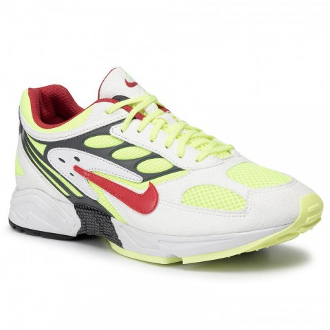 Nike Schuhe Air Ghost Racer AT5410 100 White/Atom Red/Neon Yellow
