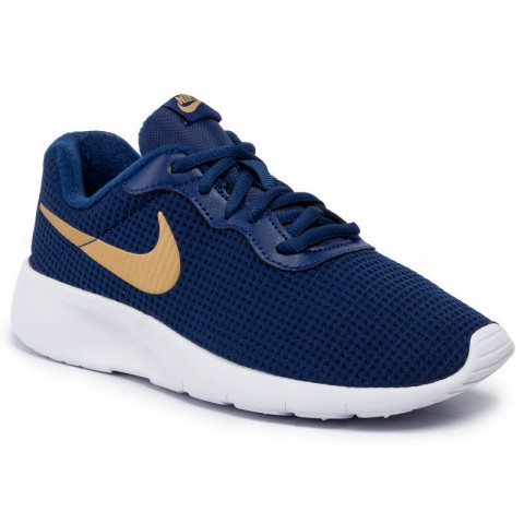 Nike Schuhe Tanjun (GS) 818381 406 Blue Void/Metallic Gold/White