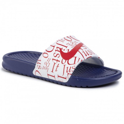 Nike Pantoletten Benassi Jdi Print 618919 406 Deep Royal/Blue/University Red