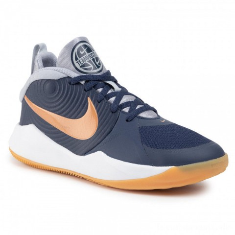 Nike Schuhe Team Hustle D 9 (Gs) AQ4224 402 Midnight Navy/Metallic Copper