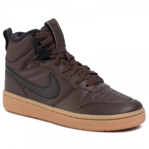 Nike Schuhe Court Borough Mid 2 Boot (GS) BQ5440 200 Baroque Brown/Black